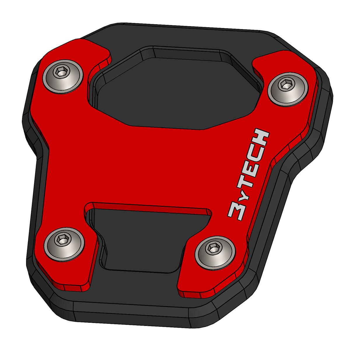 MyTech Seitenständerverbreiterung aus Alu für Honda Africa Twin CRF 1000L Adventure Sports ab 2020 rot HND423R